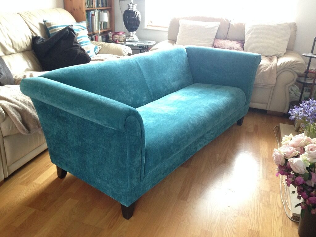 3 Seater Millie Sofa Teal Colour Great Condition