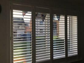 Wooden plantation style shutters