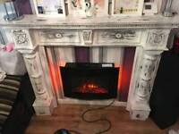 Shabby chic fire surround