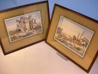 """Collectable x2 WW1 Framed Bruce Bairnsfather Prints 15"""" x 11.5"""" VGC (WH_1351)"""