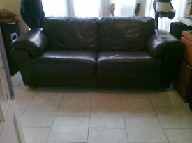 leather 2 piece settee