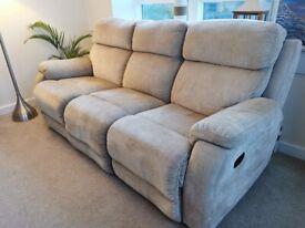 Sofa w\2 reclining seats