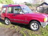 landrover discovery 300 for spares or repair,needs chassis welding, drives great.mot just run out.