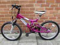 Girls pink Raleigh Vision bike
