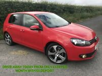 SPET 2011 VOLKSWAGEN GOLF 2.0 TDI 140 BHP GT 5 DR 18 ALLOYS PRIVACY CRUISE FINANCE AVAILABLE MOT