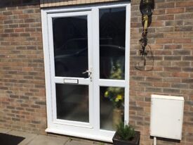 White double glazing door and frame