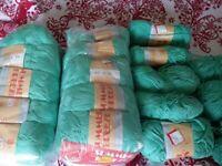 Green cotton yarn for knitting or crochet