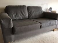 2 x two seater grey sofas (sell separately or together)
