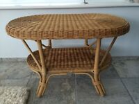 Tea table - Rattan type - Oval Shape - Excellent Condition