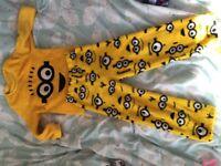 Minion pyjamas 4-5 years