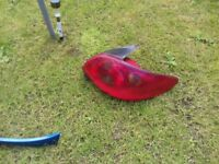 PEUGEOT 206 REAR LIGHT CLUSTER N/S AND O/S