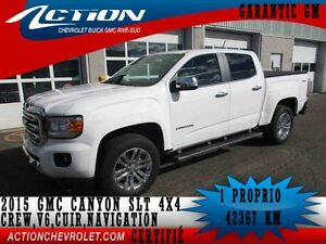 2015 GMC CANYON 4WD CREW CAB SLT V6,CUIR,NAVIGATION,BLUETOOTH