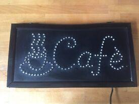 Two Café signs