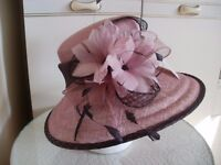 Jacques Vert - NEW - Pink and Brown Wedding / Special Occasion Hat