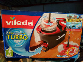 brand new vileda turbo mop and bucket