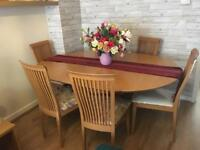John Lewis Dining table and six chairs