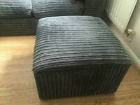 Corner sofa and large footstool