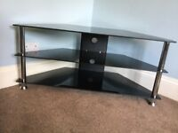 Black & Chrome TV Stand / TV Unit Would suite 38in/96cm WIDTH TV H19in/48cmW31.5in/80cmD16in/40cm