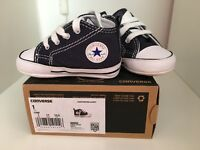 Baby navy converse shoes