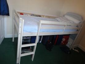 Bunk High Bed with Memory Foam Mattress