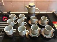Purbeck Pottery vintage 70's Coffee set/mugs