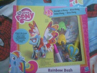 My little pony create and design a pony Rainbow dash ()