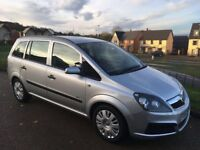 Vauxhall Zafira 1.6 i 16v Life 5dr 2007 57 Reg 7 Seater Low Warranted Mileage