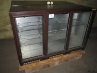 Two 3-Door Back-Of-Bar Beer & Wine Bottle Coolers / Chillers / Fridges . I Want A Quick Sale .
