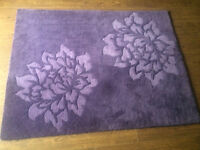 purlpe rug 5ftx4ft
