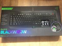 Razer BlackWidow Essential Clicky Mechanical Gaming Keyboard & Fully Programmable with 5 Macro Keys