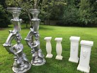 Garden ornaments, plinths