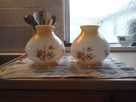 Pair of Vintage glass lamp shades