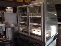 COUNTER TOP CATERING COMMERCIAL HOT FOOD DISPLAY CABINET CAFE RESTAURANT FAST FOOD CHICKEN PIZZA