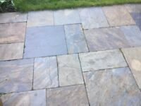 Assortment of brand new natural slate paving slabs