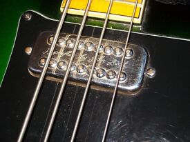 John Birch bass 1970s with Hyperflux and Biflux pickups handmade in the UK