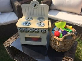 Wooden toy cooker John Lewis