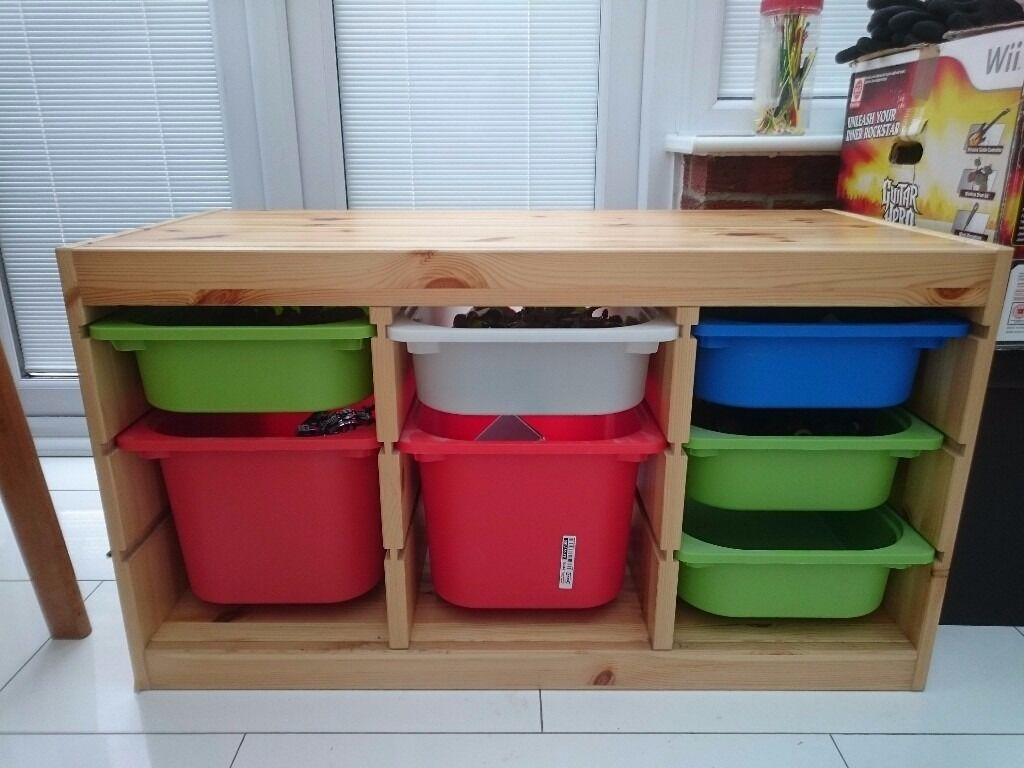 ikea trofast storage unit with plastic storage boxes in gravesend kent gumtree. Black Bedroom Furniture Sets. Home Design Ideas