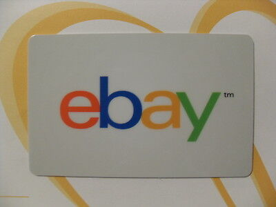 eBay Gift Card, NO CASH VALUE. Collection Purposes Only