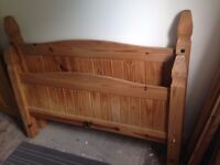 Solid wood bed frame (double)