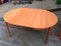 Ikea Bjursta Round Extending Dining table 210x117cm
