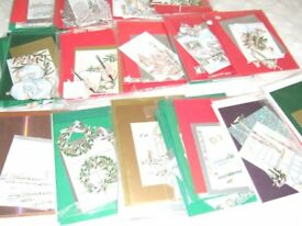 70 Christmas Decoupage cards ready to make up