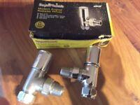 2 brand new vhrome radiator valves 15mm
