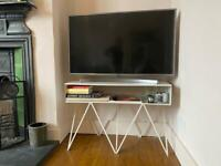 White metal TV cabinet/console table