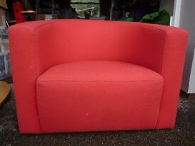 Red Bucket Style Chair