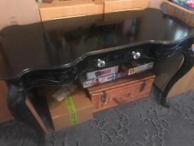 black mahogany dressing table & chair