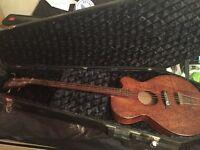 few guitars , hofner bass and 4 electric