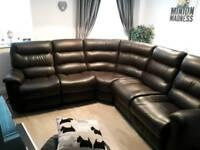 La-Z-Boy leather corner sofa