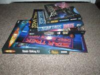 Collection of 7 Star Trek Doctor Who Books Calendars PC Game Model Making Kit Lot