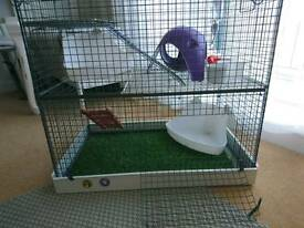Small animals cage 2 floors
