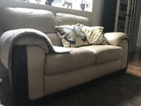 3 X Leather sofas: 2-seater + 3-seater + armchair - Excellent condition